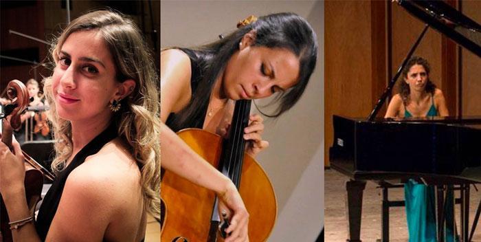 Emma Parmigiani violino – Ludovica Rana violoncello – Maddalena Giacopuzzi pianoforte