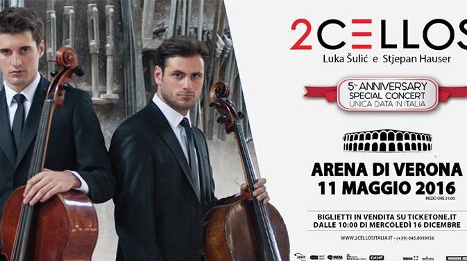 2Cellos all Arena di Verona - Concerti a Verona