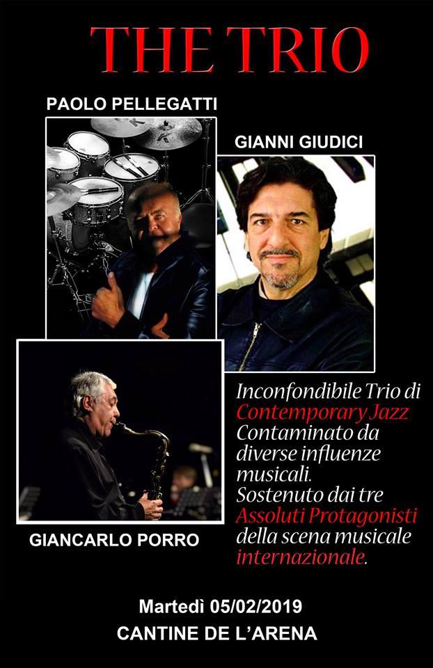 """PAOLO Pellegatti """" the TRIO"""" (Jazz) a Le Cantine de l'Arena"""