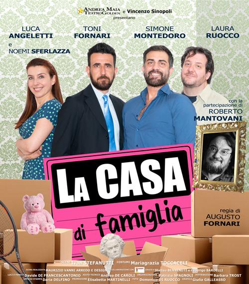"""Simone Montedoro, Luca Angeletti, Toni Fornari, Laura Ruocco, Roberto Mantovani in """"LA casa di famiglia"""""""