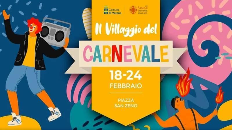 """Il """"Villaggio del Carnevale"""" animerà Piazza San Zeno per il 490° Bacanal del Gnoco"""