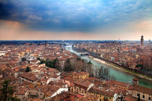 Vista di Verona da Castel San Pietro