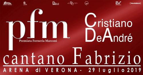 PFM e Cristiano De Andrè cantano Fabrizio nella straordinaria cornice dell'Arena di Verona
