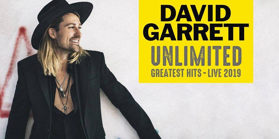 """David Garrett annuncia """"Unlimited – Greatest Hits – Live"""" all'Arena di Verona"""