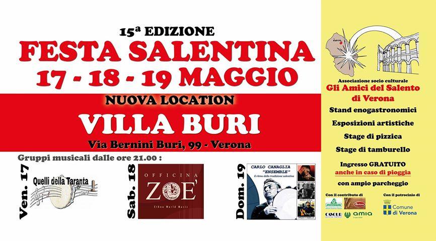 15a edizione della Festa Salentina a Villa Buri