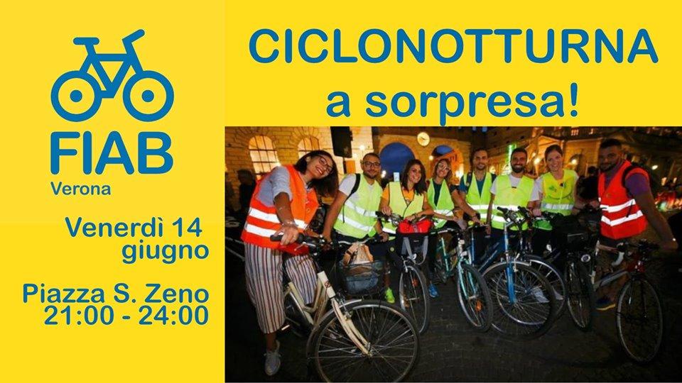 Ciclonotturna… a sorpresa con Fiab Verona
