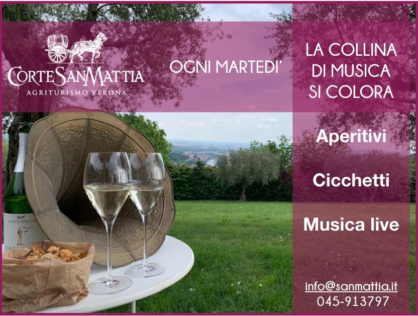 Aperitivi del martedì sera con musica dal vivo in Corte San Mattia