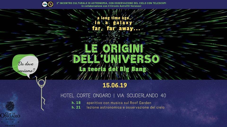 Le origini dell'Universo: la teoria del Big Bang all'Hotel Corte Ongaro