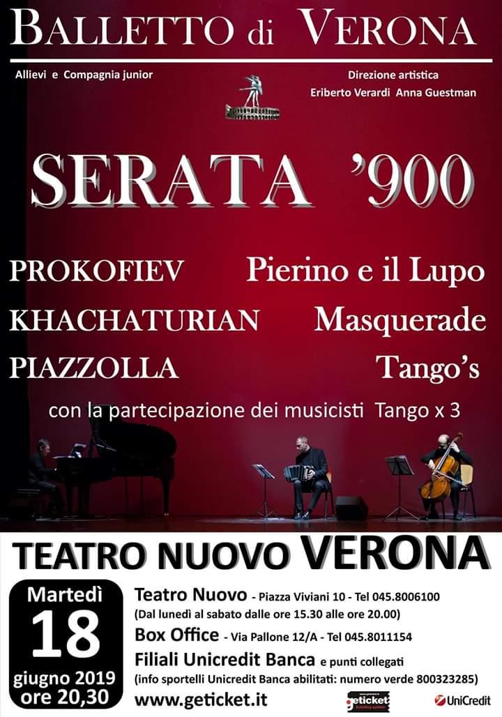"""Il Balletto di Verona presenta """"Serata '900"""", al Teatro Nuovo di Verona con tre balletti"""