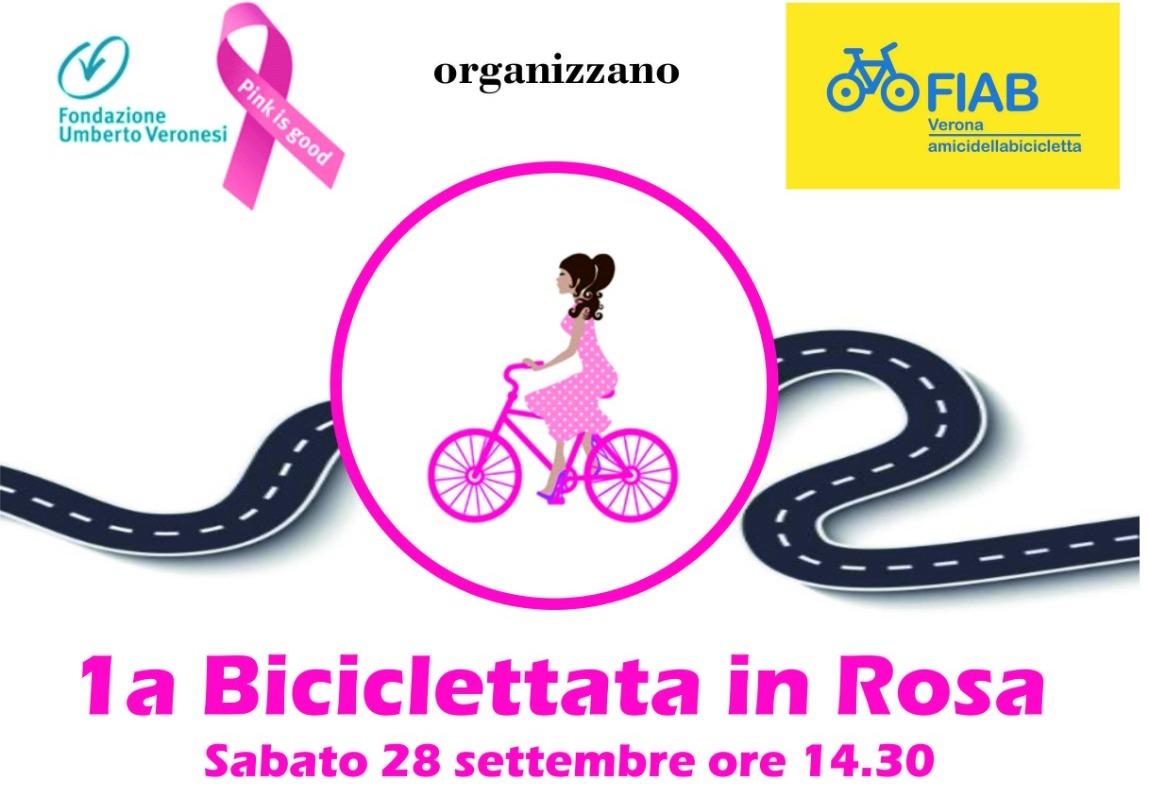 """Prima """"Biciclettata in rosa"""" in favore al progetto Pink is Good di Fondazione Umberto Veronesi"""