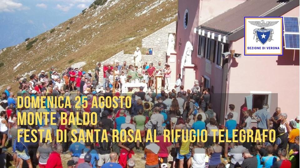 Festa di Santa Rosa al Rifugio Telegrafo sul Monte Baldo