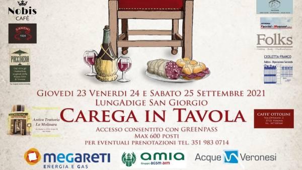 """""""Carega in Tavola"""" con musica, divertimento e piatti della tradizione veronese"""