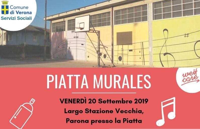 """""""Piatta Murales"""", una giornata dedicata alla realizzazione del Murales della Piattaforma sportiva di Parona"""
