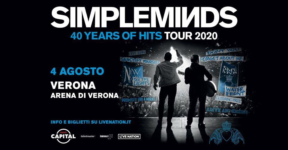 I Simple Minds festeggiano i quarant'anni di carriera all'Arena di Verona