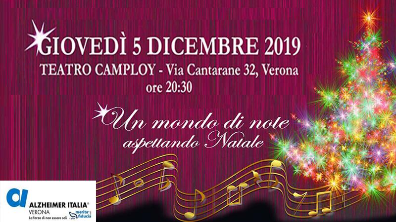 """Spettacolo musicale benefico intitolato """"Un mondo di note – Aspettando Natale"""" al Teatro Camploy"""