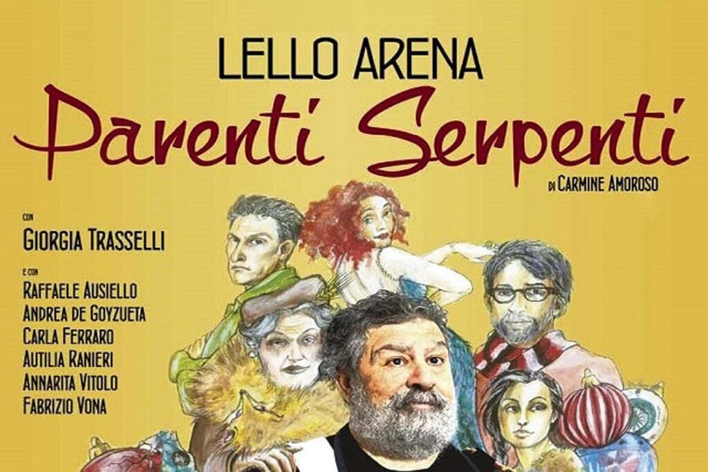 """Lello Arena straordinario protagonista nella commedia """"Parenti Serpenti"""" al Teatro Capitan Bovo"""