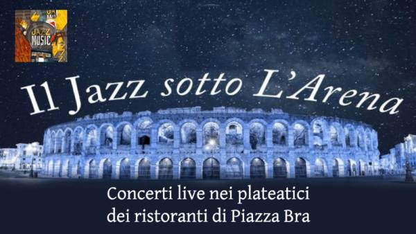 Musica live nei plateatici dei ristoranti in piazza Brà
