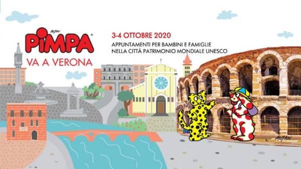 Pimpa arriva a Verona per visitare la città
