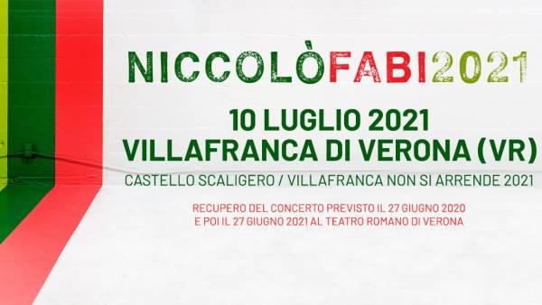 Niccolò Fabi al Castello Scaligero di Villafranca