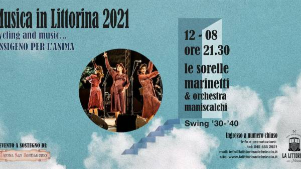 """Le sorelle Marinetti e il quartetto Jazz dell'Orchestra Miniscalchi a """"La Littorina del Mincio"""""""