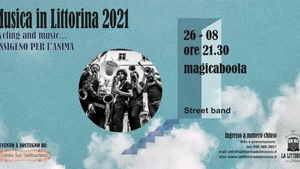 """MagicaBoola brass band a """"La Littorina del Mincio"""""""