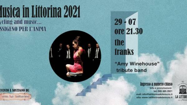 """The Franks, """"Amy Winehouse"""" tribute band a """"La Littorina del Mincio"""""""