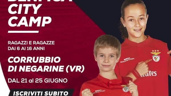 Aperte le iscrizioni per il Benfica City Camp
