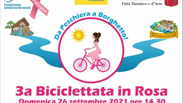Terza Biciclettata in Rosa da Peschiera del Garda a Borghetto
