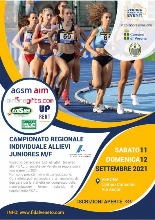 Locandina Campionati regionali Fidal