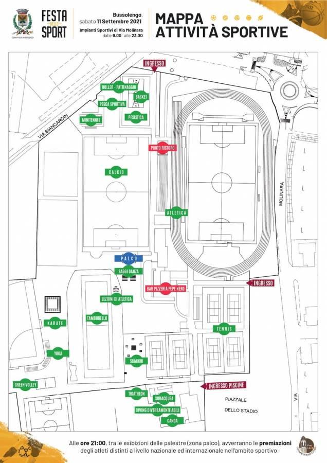 Mappa Festa dello sport a Bussolengo